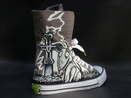 Frankenweenie Handpainted shoes Sparky by rachelliles352