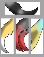 Eye-Catching Quartet Tails Bookmarks by GaneneTheDefendra