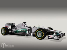Mercedes W03 by Ouroboros888