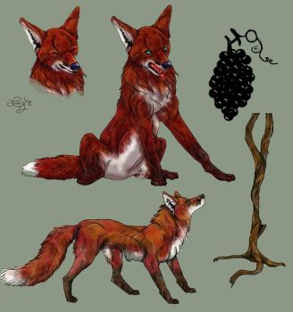 Fox and Grapes Graphics by psychowerewolf