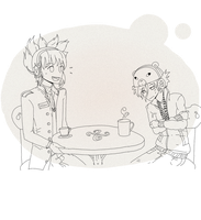 .:On a Date:. Yuno and Andy by KieCookie