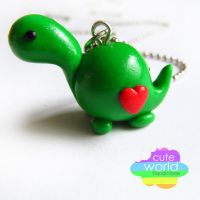 Green Dino by CuteWorldCharms
