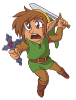 Link Cross Chibi by jmatchead