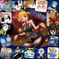Fairy Tail's Celestial Spirits w/ Lucy Heartfilia by RainbowBloom
