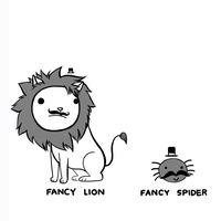 Fancy Lion, Fancy Spider by arseniic