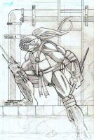 TMNT Raphael Pencils by CliffEngland