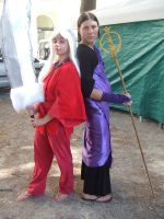 Inuyasha and miroku II by SuperCosplay