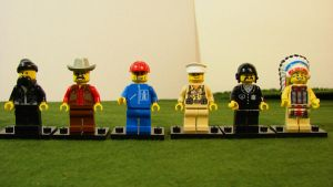 Lego Village People by PotatoeHuman