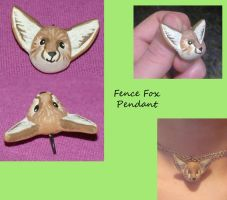 Fence Fox Pendant by noonetells