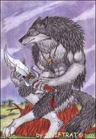 Wolfen Warrior by swiftrat