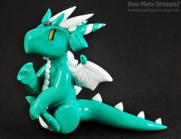 Snowmint, the Wintergreen Dragon by HowManyDragons
