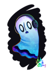 Napstablook by TaygaWolf