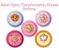 Sailor Moon Trasformation Locket Buttons by Boundbyribbon