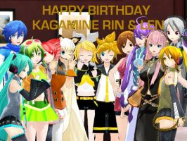 Happy B-Day Rin and Len by Myth-P