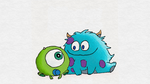 Widdle Mike and Sully! by TortallMagic