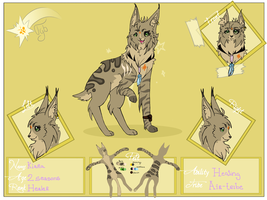 Kiara Ref Sheet V.2 by zara4leafclover8