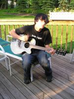 Cory Playing Guitar 5 by FantasiaFaerieStock