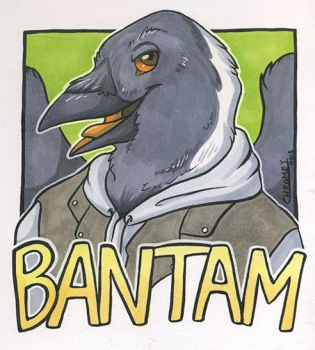 Bantam Traditional Conbadge by Chromeydragon