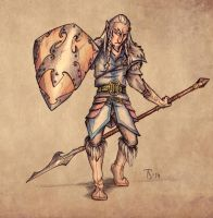Elven warrior from North by Tohmo