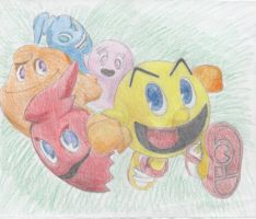 pacman and the ghost gang by Godzilla-girl