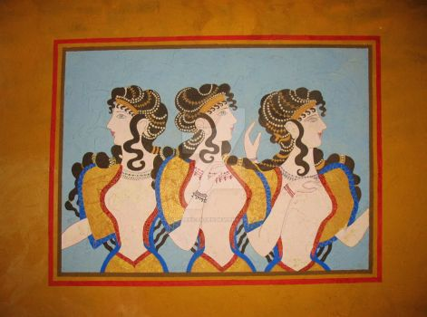 Three Maidens Mural by Timeless-Faces