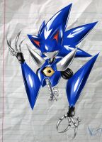 Neo Metal Sonic - Scribble by DullVivid