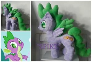 My little Pony SPIKE as a pony plush chatter by CINNAMON-STITCH