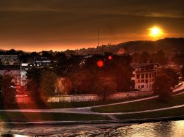 Cracow sunset by kubica
