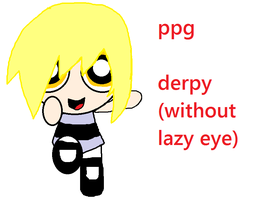 PowerPuff Derpy Hooves without her lazy eye by Lucaslover89