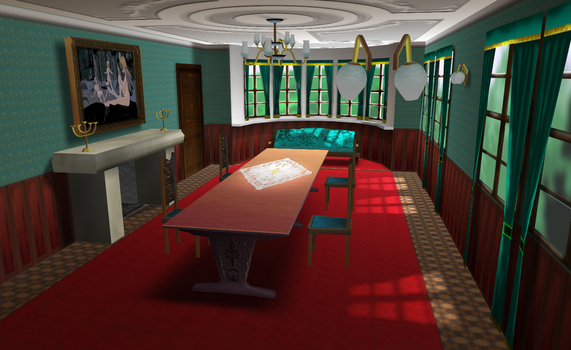 MMD Fancy Red room by amiamy111