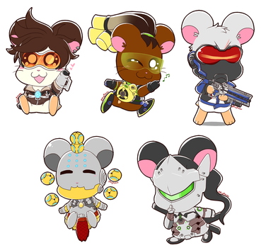 Overwatch Hamsters by Rugi-chan