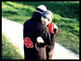 Kakuzu Hidan Cosplay still hug by Moin2D