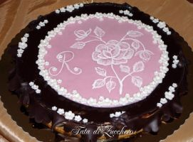 Rose chocolate cake by Dyda81
