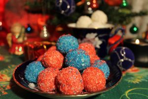 Multicolored Christmas sweets with coconut by georgian2all