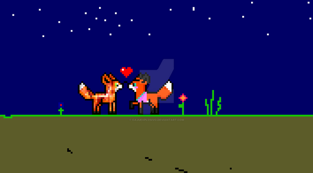 Fox in love by CajuExplosivo