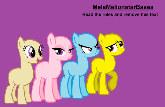 (MLP Base)Wow!We're an awesome sisters! by MelaRainbow-Bases