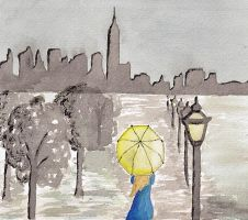 A rainy day in New York by fantasticClouds