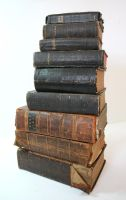 Stock - A Tower of Bibles by OghamMoon