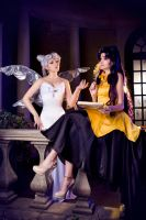 Queen Serenity and Luna by Sapphire-Melles