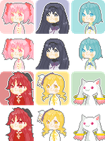 free to use puella magi icon set by piijenius