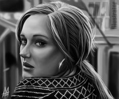 Someone like Adele by MauroIllustrator