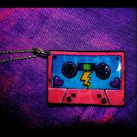 80s Cassette Tape Necklace by asunder