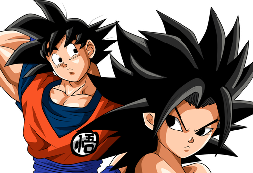 Goku And Caulifla by chanmio67