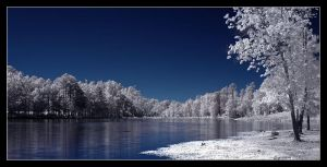 Panoramic lakefalse-color IR by snailfan-man