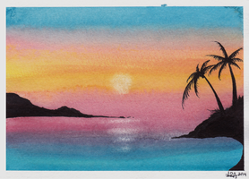 Pacific - Watercolor Painting (scanned) by CrypticGrin
