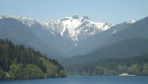 The Lions and Capilano Lake by mc1964