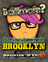 NYC Pony Hipster Poster - Dis Variant by purpletinker