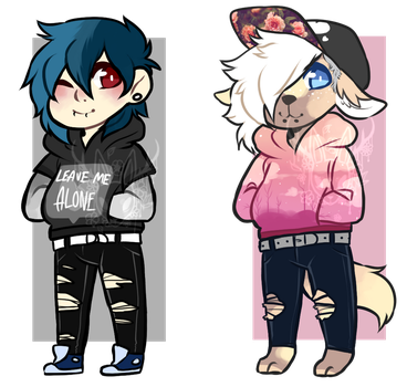 Anthro and Human Chibi adopt [closed] by OperaHouseGhost