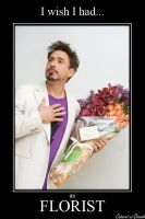 Robert Downey Jr. as Florist by CABARETdelDIAVOLO