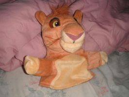 Simba hand puppet by kalynvalcourt